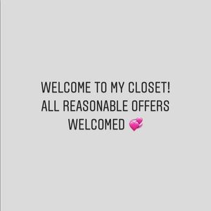 All reasonable offers are welcomed